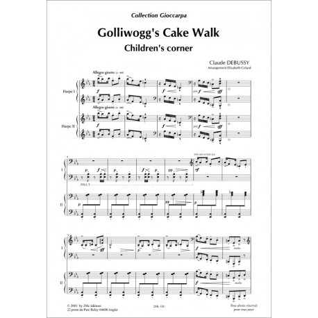 Golliwog's cake walk   Debussy  pour 2 harpes