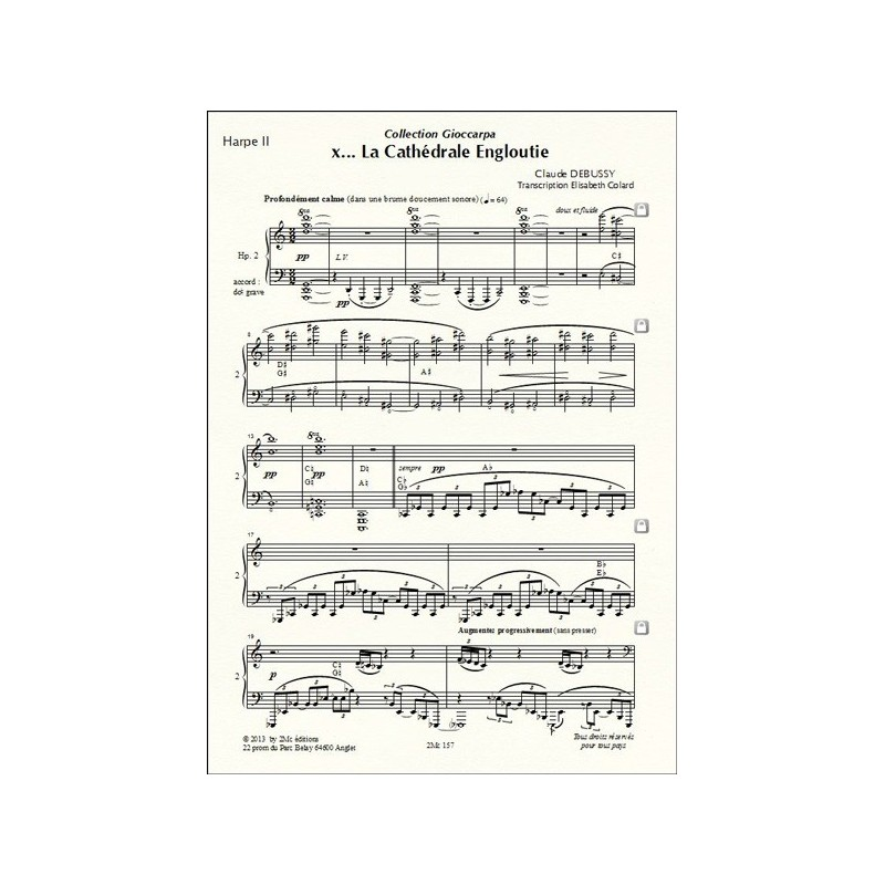 la cathdrale engloutie by claude debussy By claude debussy / ed maurice hinson piano book this significant compilation of 12 preludes represents debussy's mature writing style and is filled with a great diversity of compositional styles.